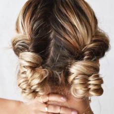 25 fishtail twist bun hair