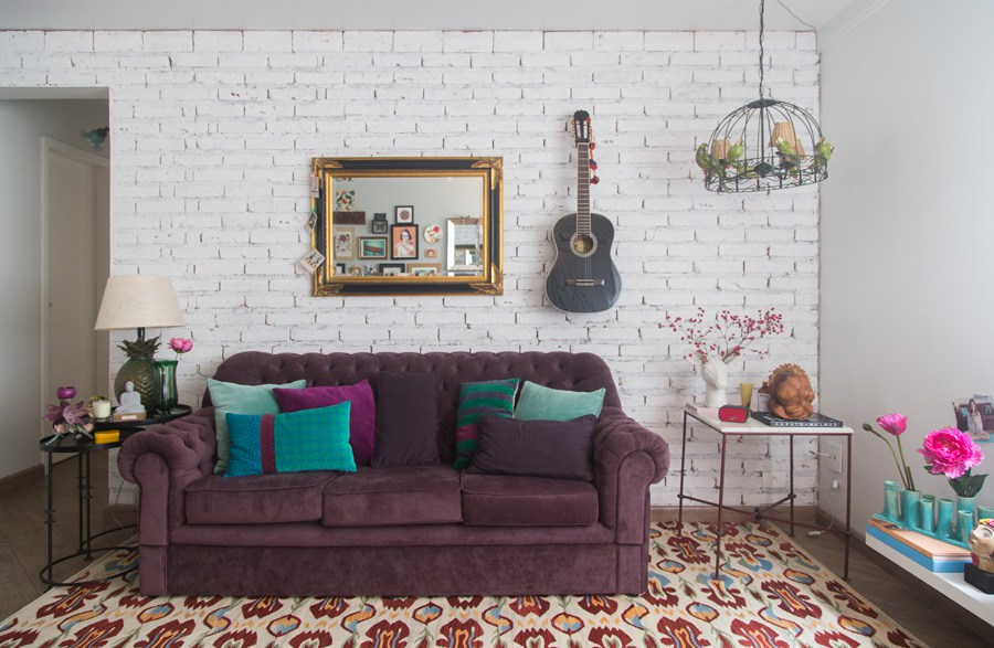 3 purple bohemian living space
