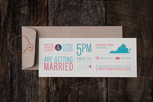 33 horizontal infographic invitation