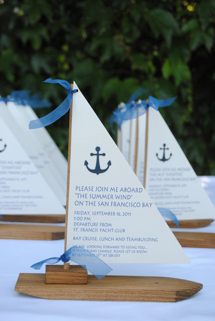 36 wedding boat invitation