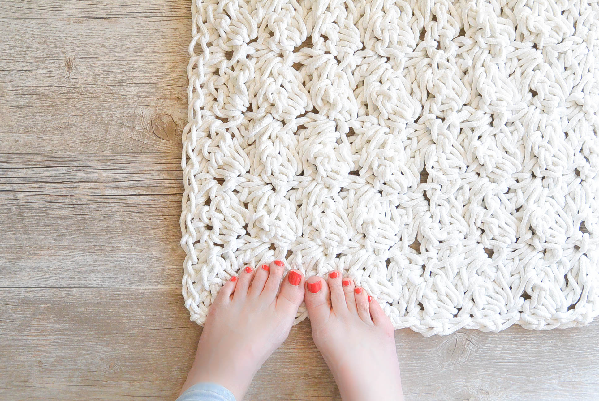 4 crochet bath rug rope
