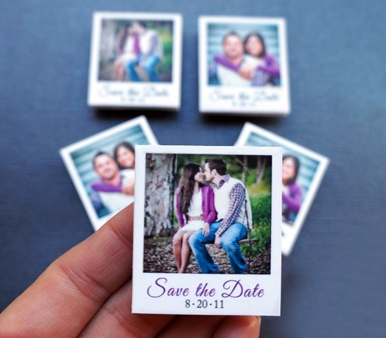 42 mini polaroid save the dates