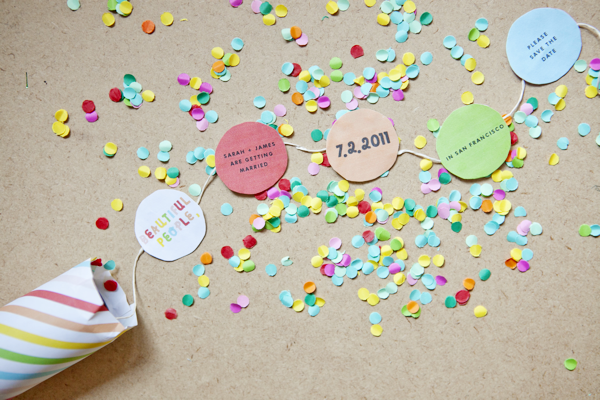 44 confetti invitations