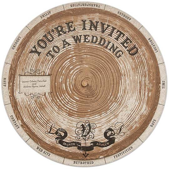 47 wooden wheel invite