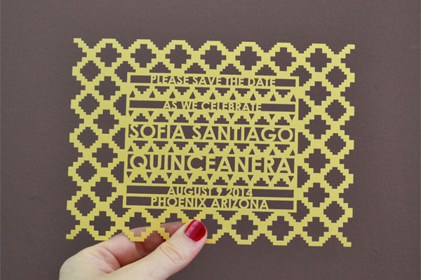 6 avie laser cut invitations