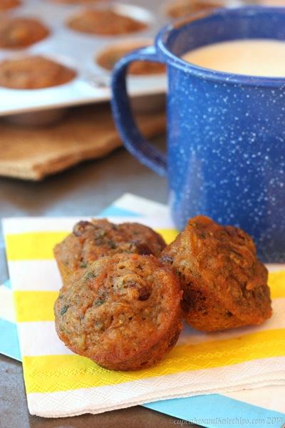 8 carrot zucchini mini muffins