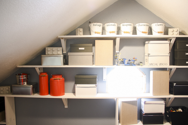 Attic shelving and storage
