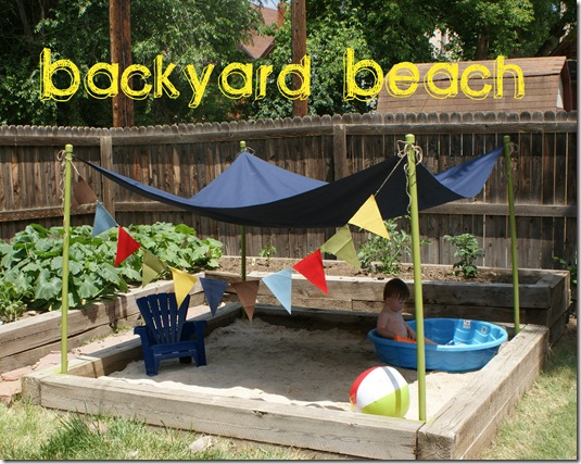 Backyard beach sandbox