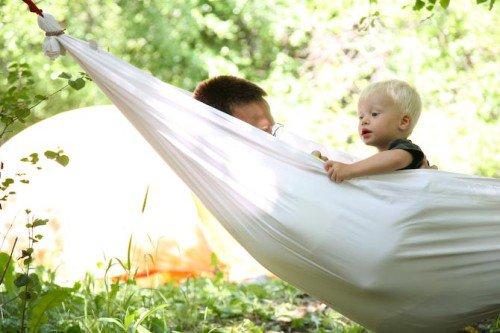 Bed sheet hammock