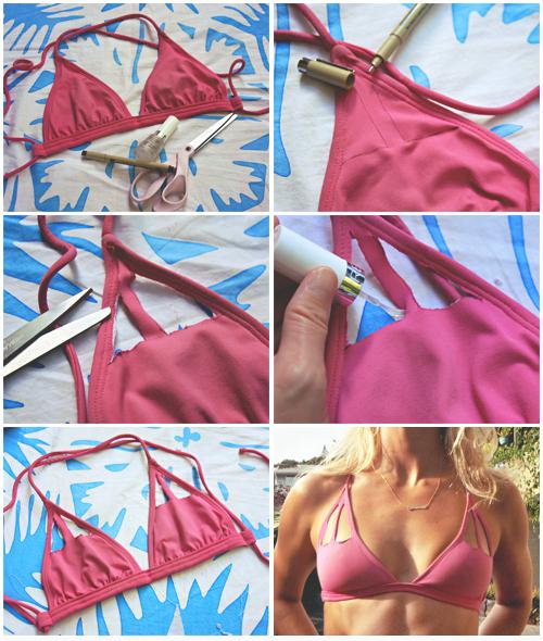 Bikini top cut outs