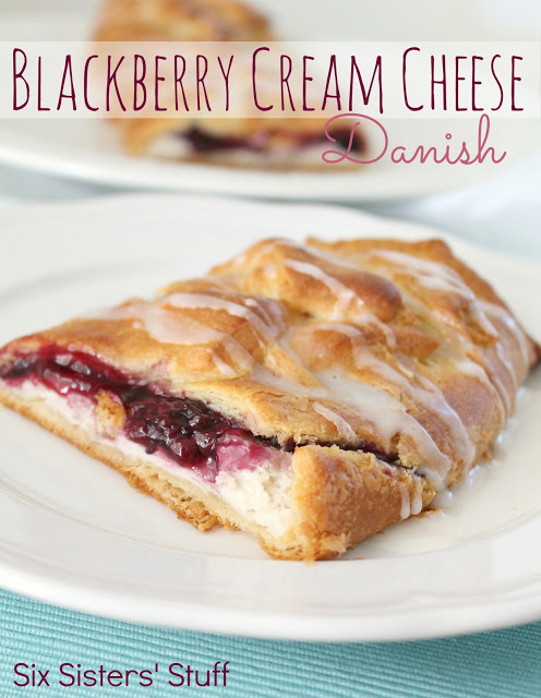 Blackberry creamcheese danish