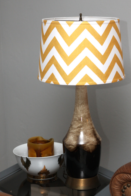 Chevron lampshade diy