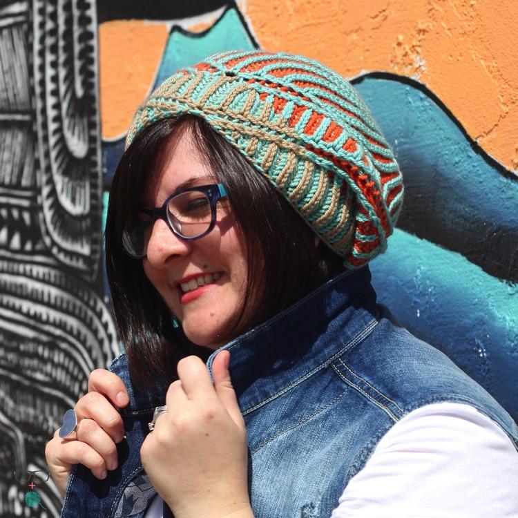 Controlled chaos brioche hat design