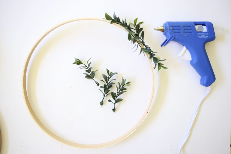 Diy floral photo display step2
