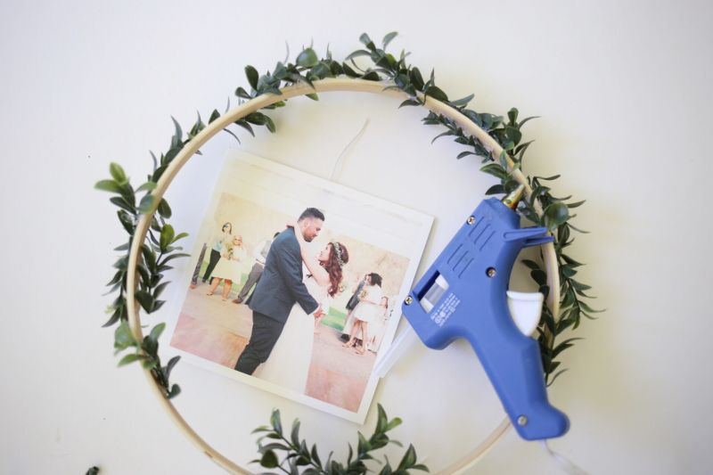 Diy floral photo display step7