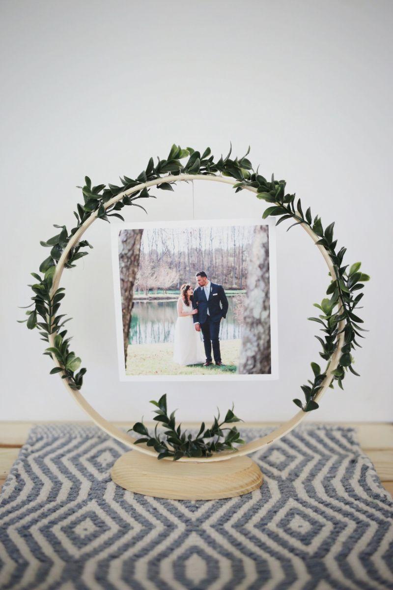 DIY Floral Wedding Photo Frame Display