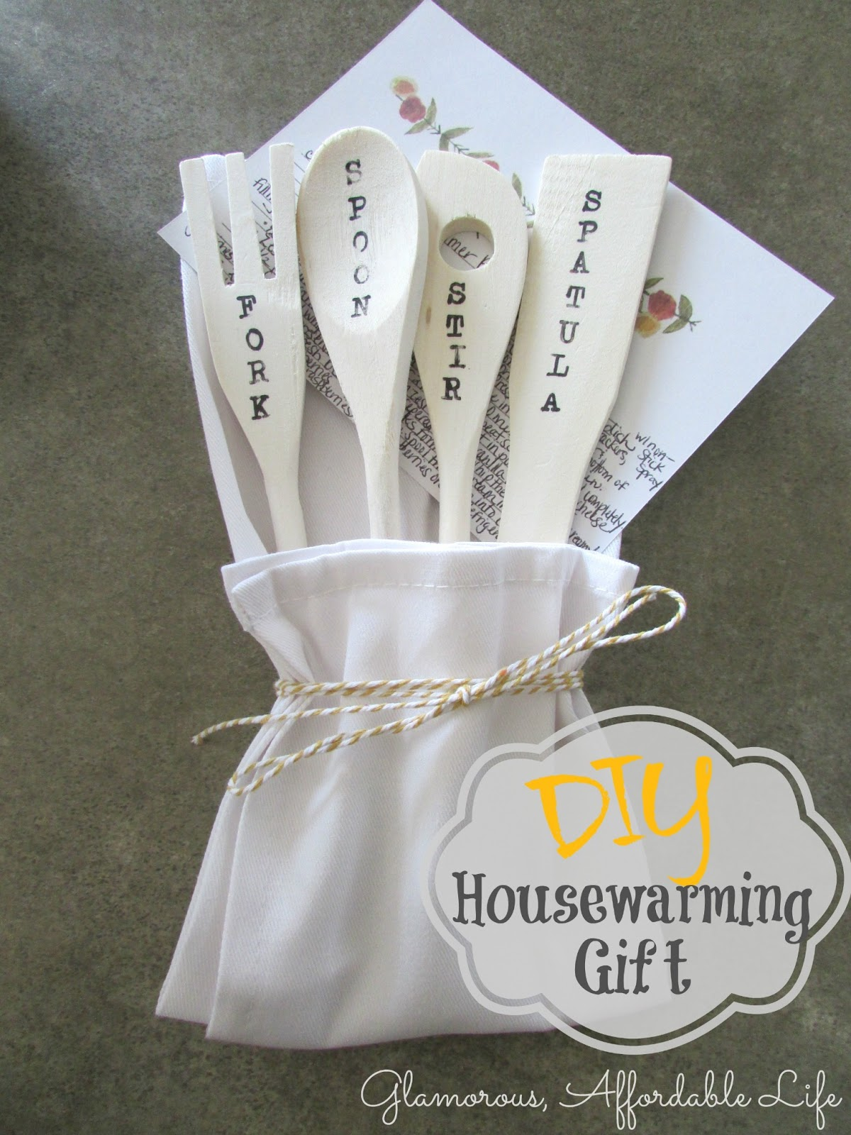 Diy Housewarming Spoon Set
