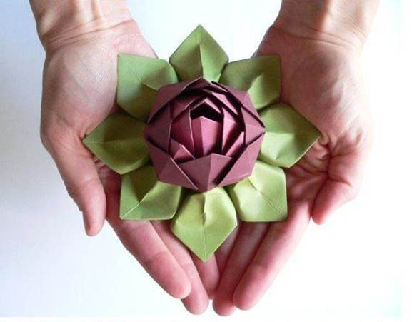 How to make a traditional origami lotus flower: page 17 | 451x577
