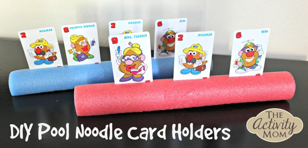Diy pool noodle card holders