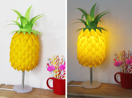 Diy lampshade pineapple