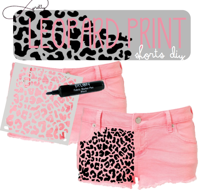 Diy leopard print shorts