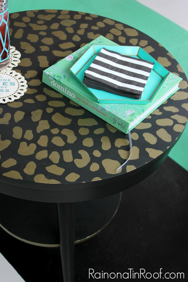 Diy leopard print table
