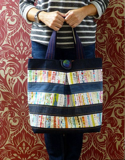 Diy denim diaper bag