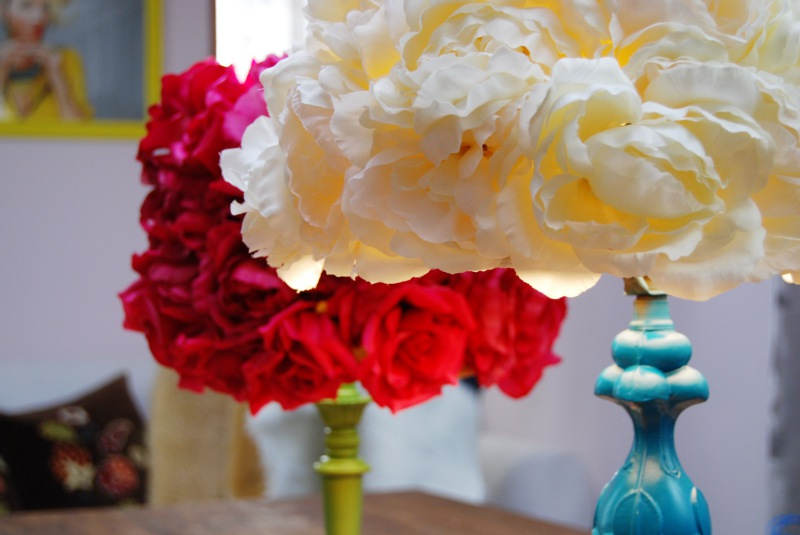 Diy flower lampshade