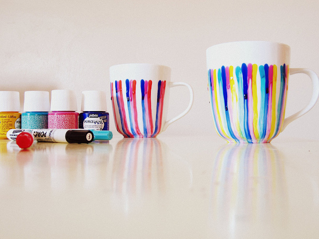 Dripping colours mug