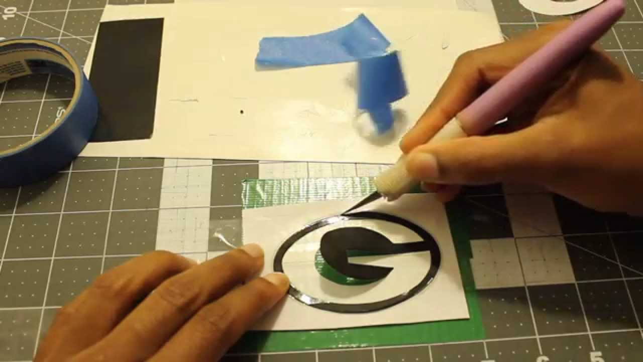 Duct tape stencils