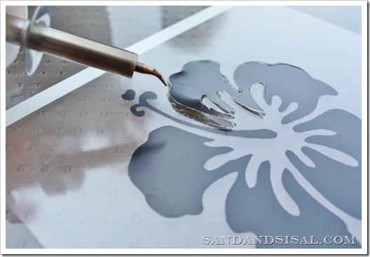 Electric cutting tool stencils