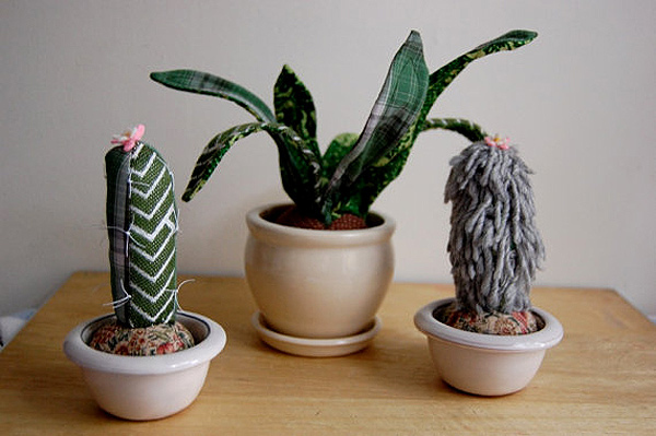 Fabric scrap cacti