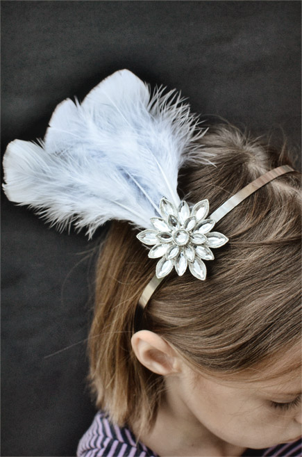 Feather headband fascinator