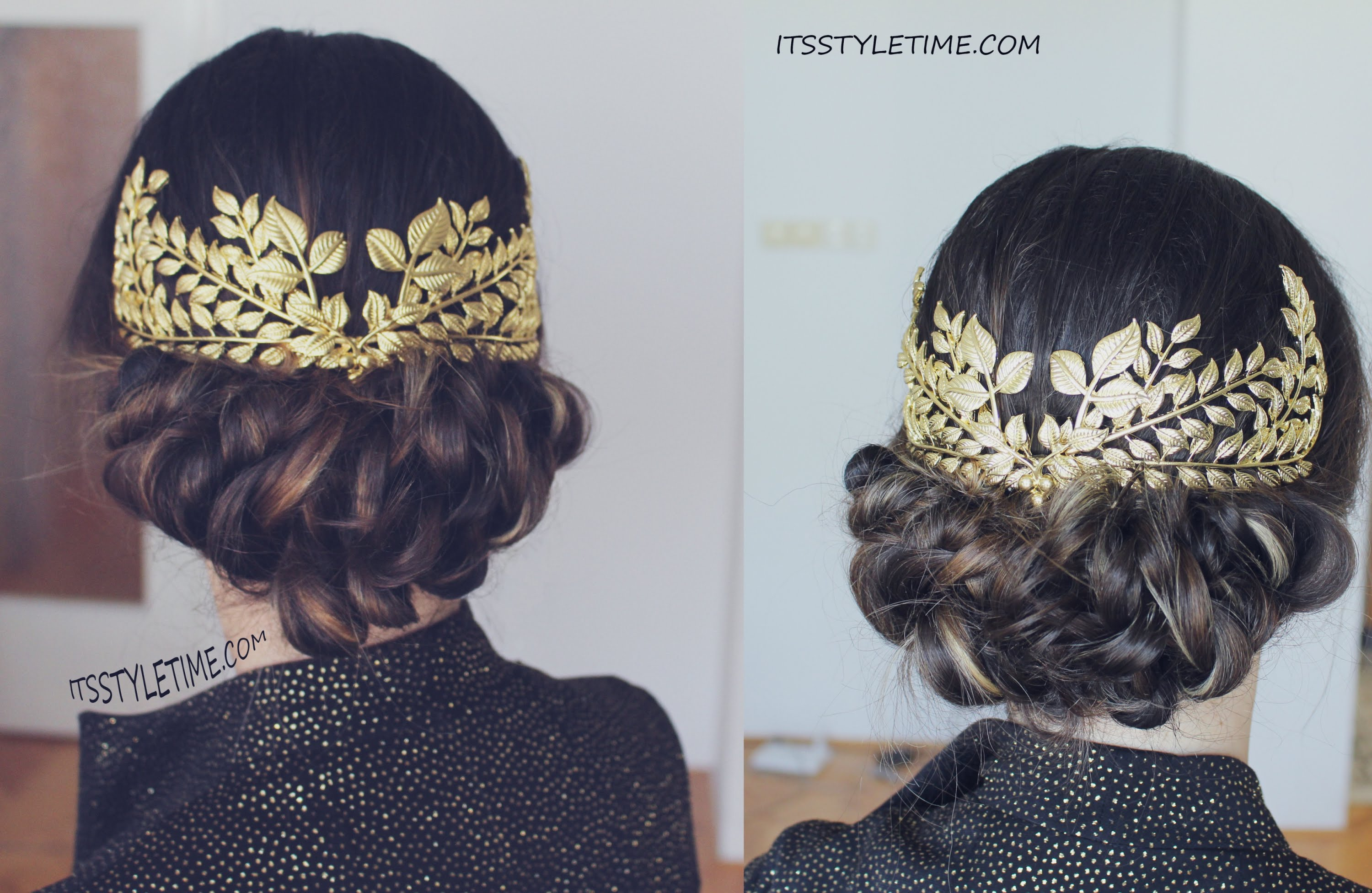 Great gatsby inspired low bun diy
