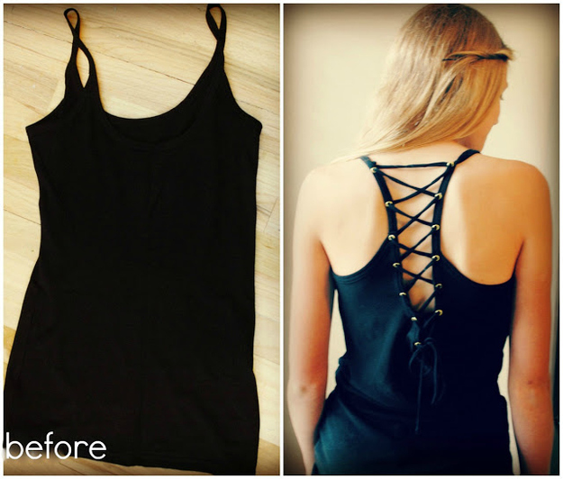 Gromet and laces tank