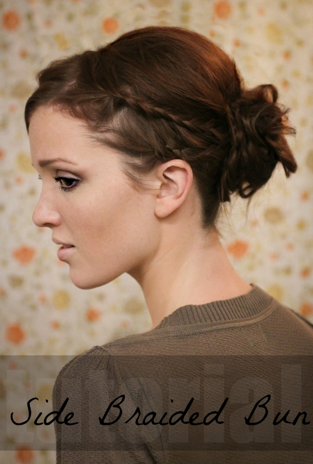 Hair tutorial freckled fox side braided bun 6