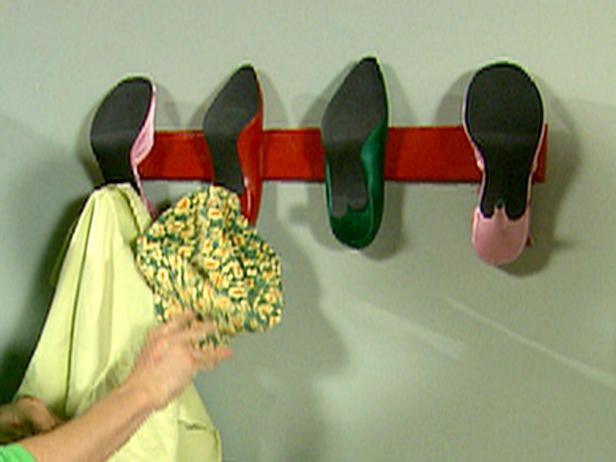 High heel coat rack