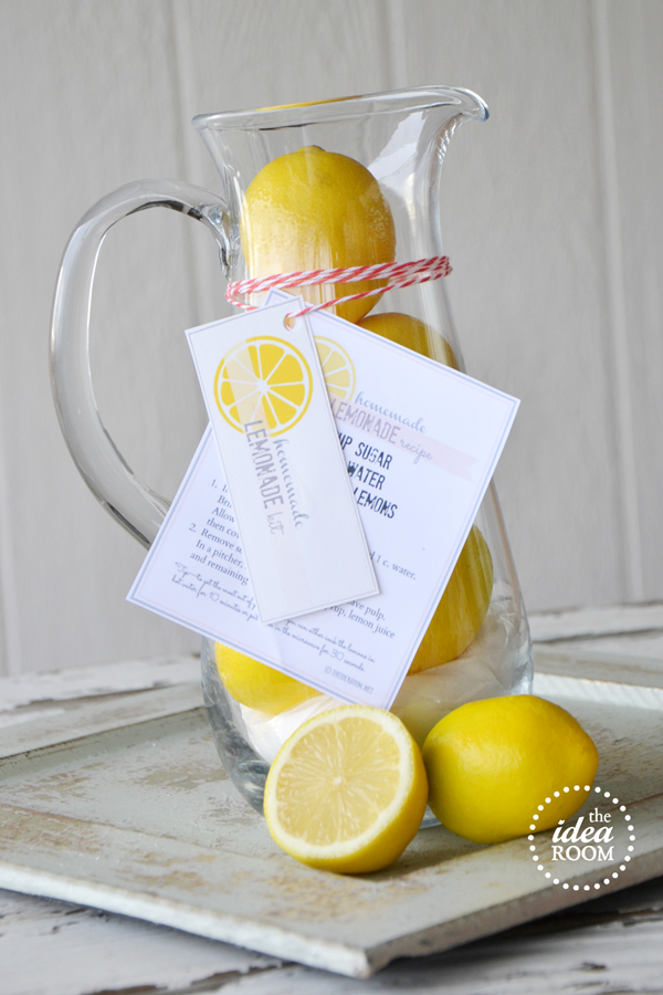 Homemade lemonade gift