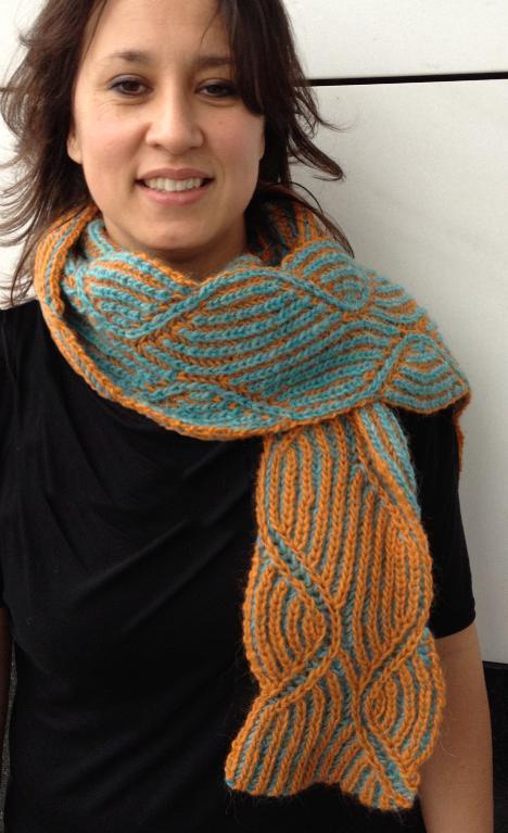 Jacki revisited icelandic style scarf