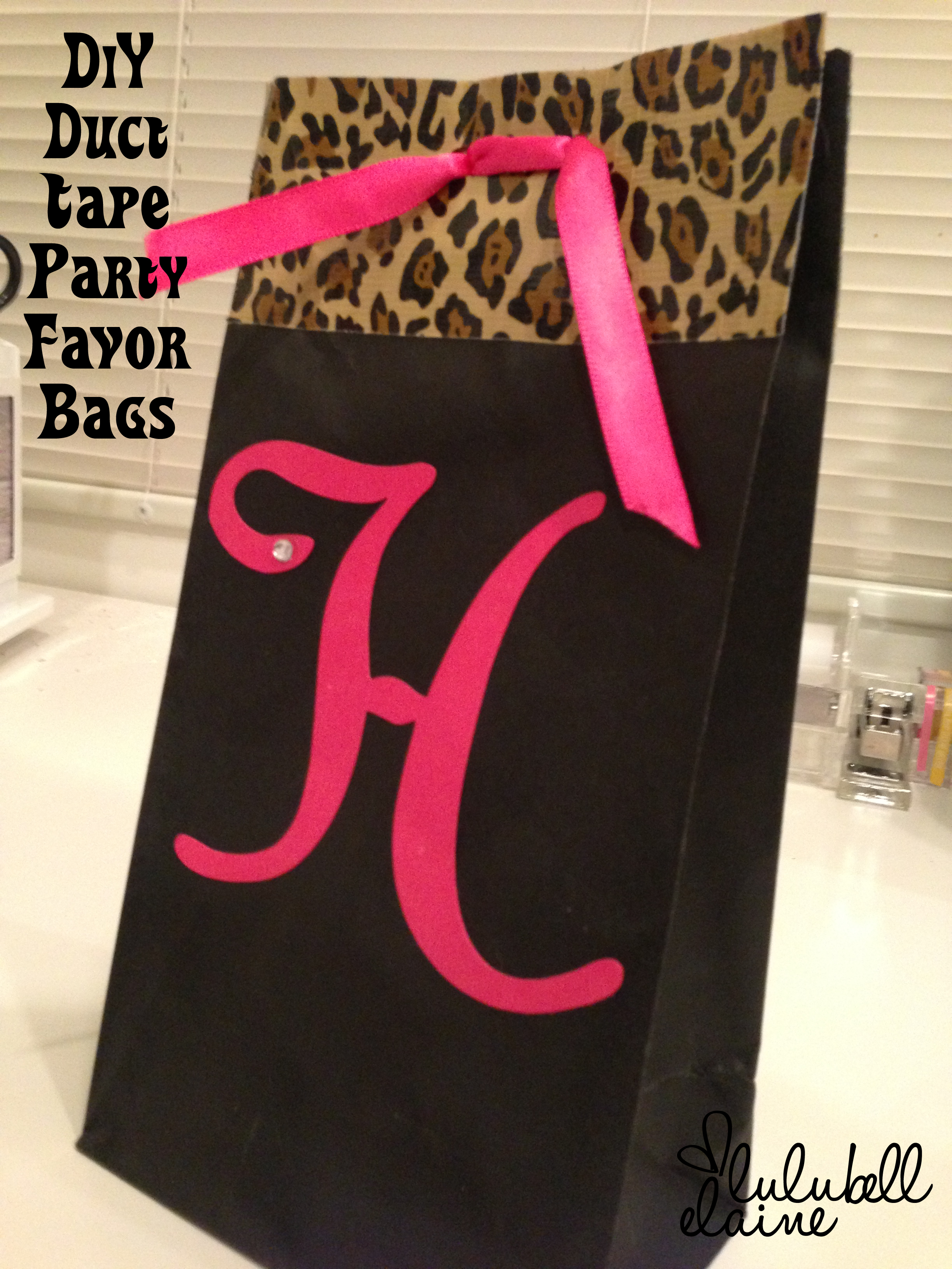 Leopard duct tape party bags