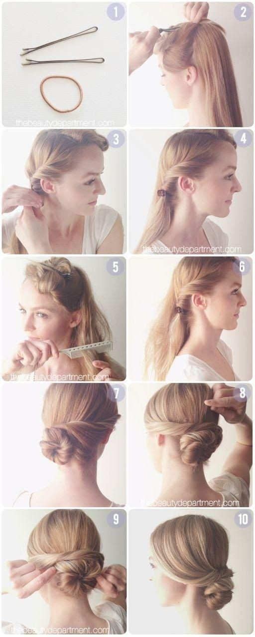 Low chignon diy