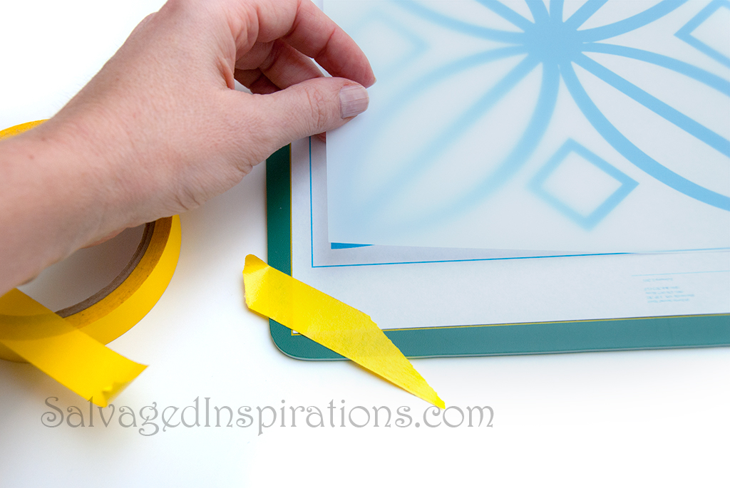 Mylar sheet stencils