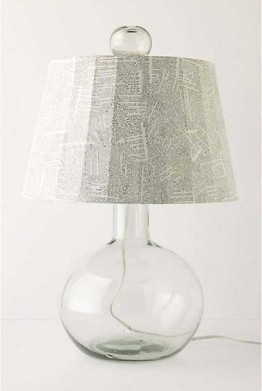 Newspaper diy lampshade
