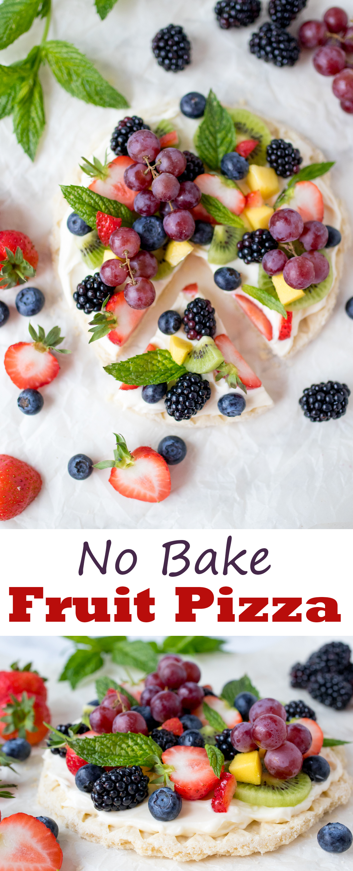No-Bake Fruit Pizza - A simple and attractive summer dessert!