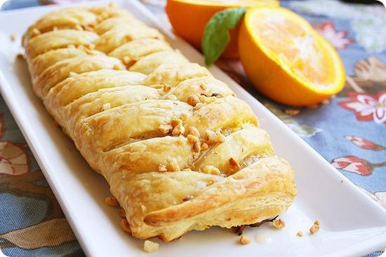 Orange cheese danish