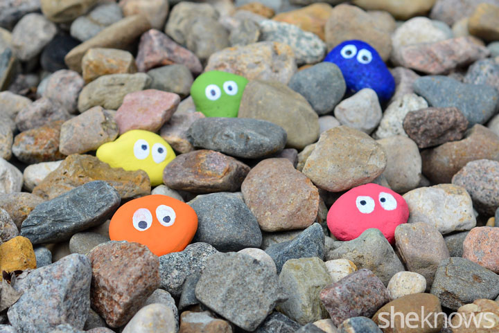 Painted kids' rocks