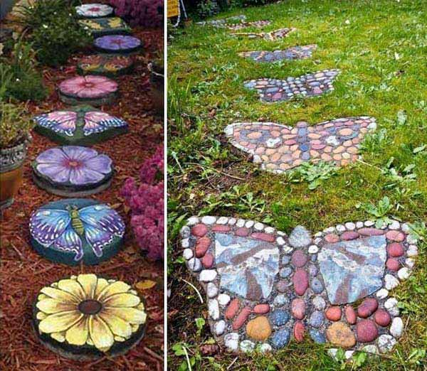 15 ideas to get you inspired to make your own rock garden 1 painted stepping stones workwithnaturefo