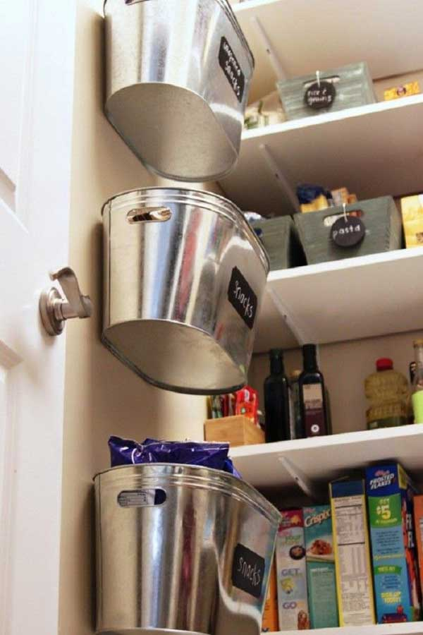 Pantry wall snack tins
