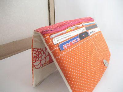 Patchwork bi fold wallet