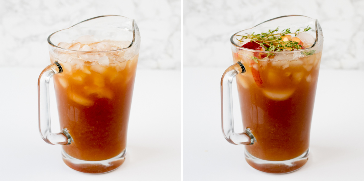 Peach and thyme iced tea step 3 collage